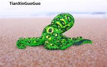 about 33cm simulation green octopus plush toy soft doll baby toy birthday gift s0134