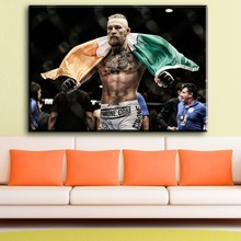ФОТО ZZ1149 modern decorative canvas art Conor McGregor FIGHT BOXING Canvas Poster wall Picture  Living Room Decor paintings art