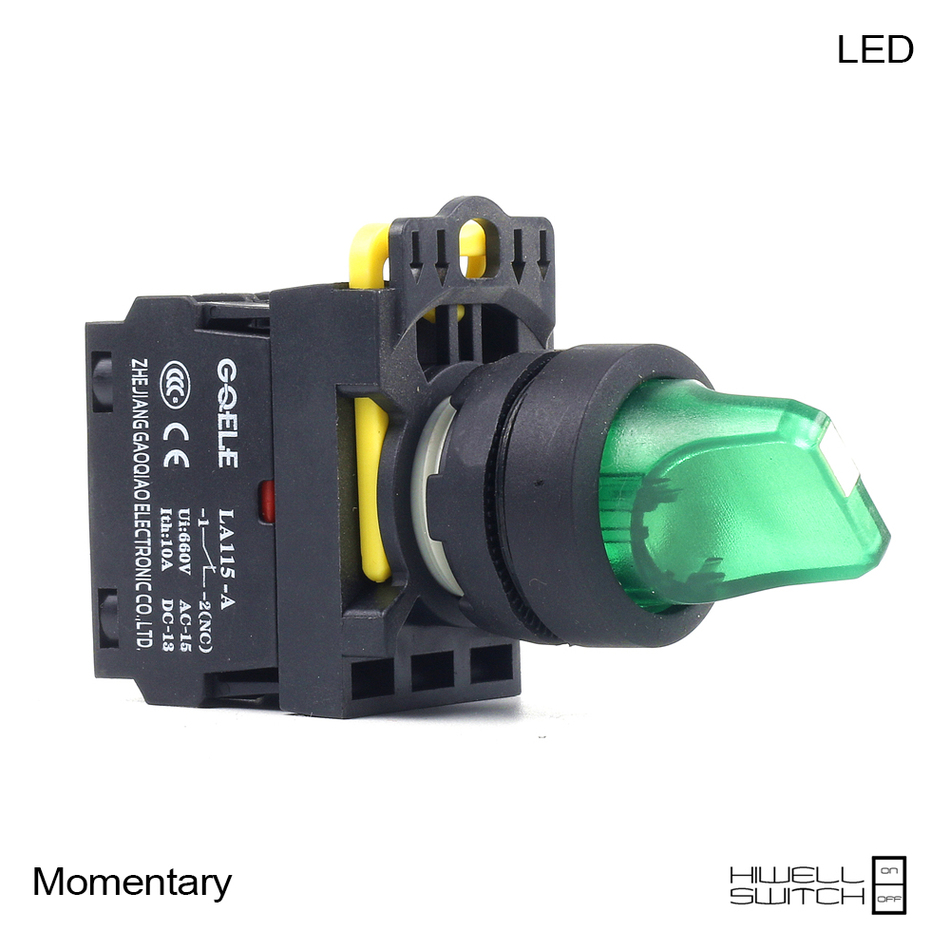 5 PCS Push button switch Selector switch Short handle 3-Position LED Momentary IP40 1NO 1NC 1N0+1NC 2NO 2NC LA115-A1-11XD-R31 3 2 position 22mm neck rotary switch 1 no 1 nc or 2no 2nc