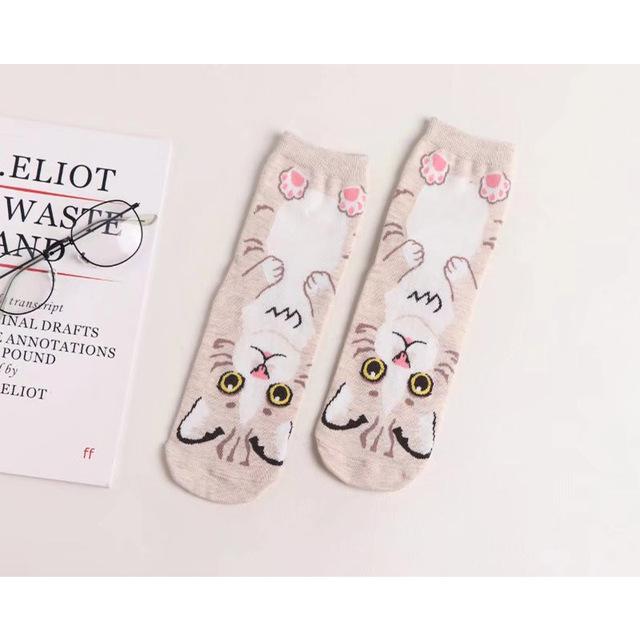 Women's Cute Cat Themed Socks