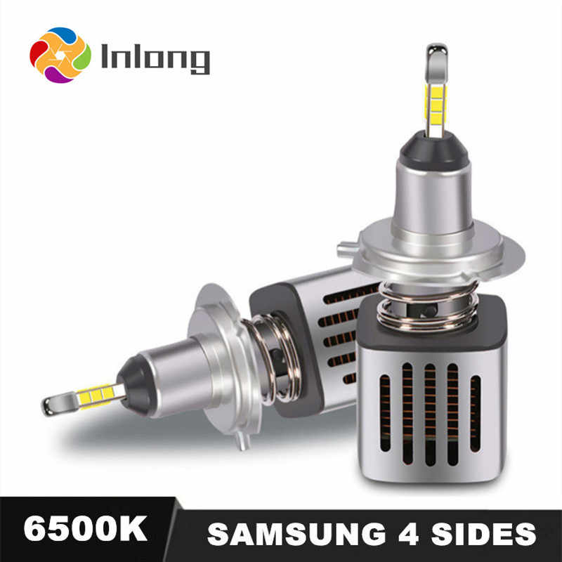 Inlong With 4 Sides SAMSUNG Mini H1 LED H7 11200LM D2S H4 H9 H11 9005 D3S 9006 HB4 D1S Car Headlight Bulbs 6500K  Fog Lights 12V
