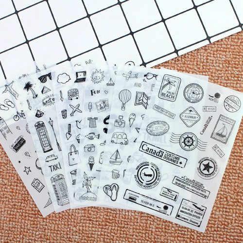 6 قطعة/المجموعة البسيطة لطيف Kawaii الكرتون مصنع المفكرة لزجة الملاحظات دفتر القرطاسية ملصقات الأطفال ملصقات اللوازم المكتبية