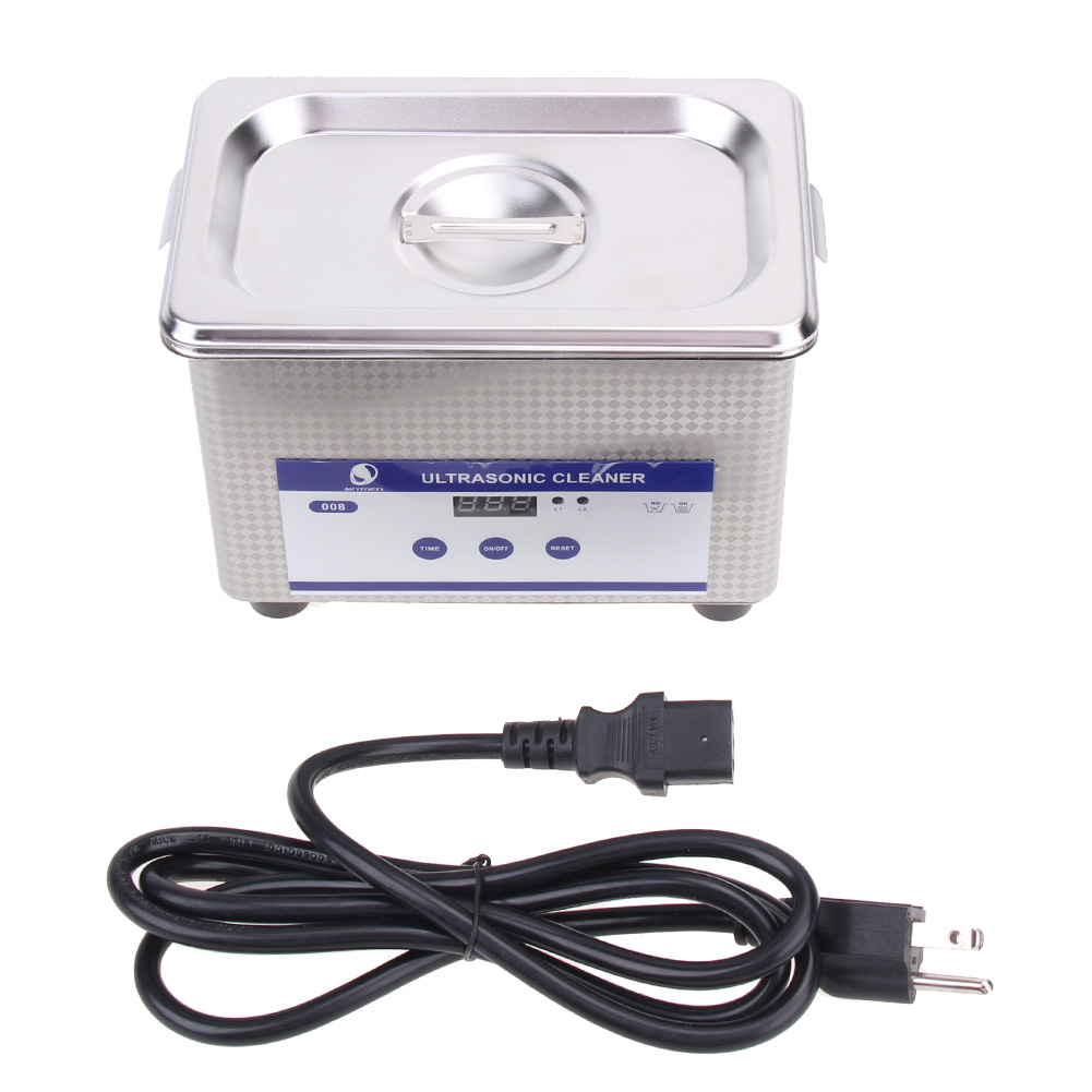 Mini Digital Ultrasonic Cleaning Transducer Baskets Jewelry Watches Dental CD 0.8L 42kHz Ultrasound Cleaner ultrasonic bath cleaner 0 75l tank baskets jewelry watches injector ring dental pcb 35w 42khz digital mini ultrasonic cleaner