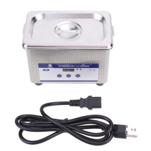 Mini Digital Ultrasonic Cleaning Transducer Baskets Jewelry Watches Dental CD 0.8L 42kHz Ultrasound Cleaner