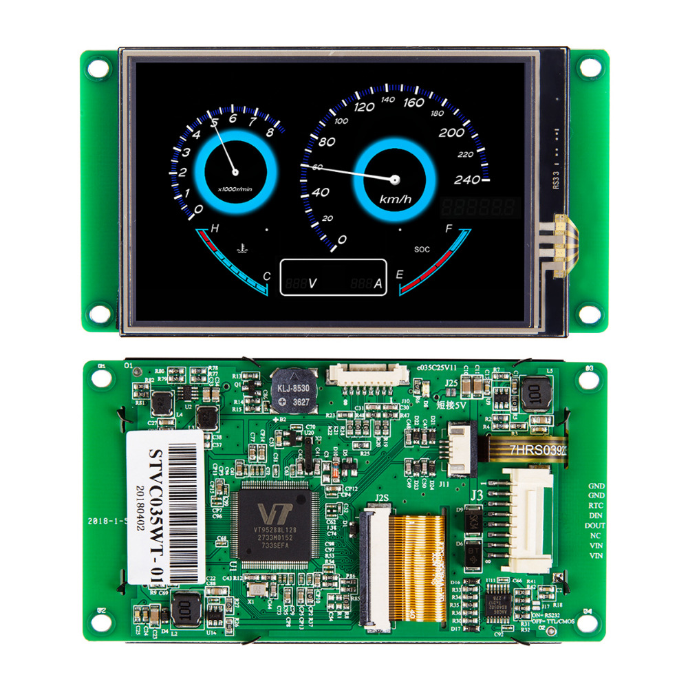 3.5 Inch Intelligent TFT LCD Display Touch Screen Panel For Embedded System With UART Port
