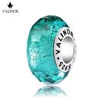 Verde flash rottami metallici di murano perle di vetro di fascini Dell'argento Sterlina 925 misura I Braccialetti per i Monili Delle Donne D'avanguardia JKLL013-4