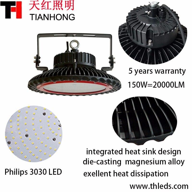 IP65 UFO led high bay light 150W  LED warehouse light basketball sport stadium court field 150W bay lighting 5 years warranty