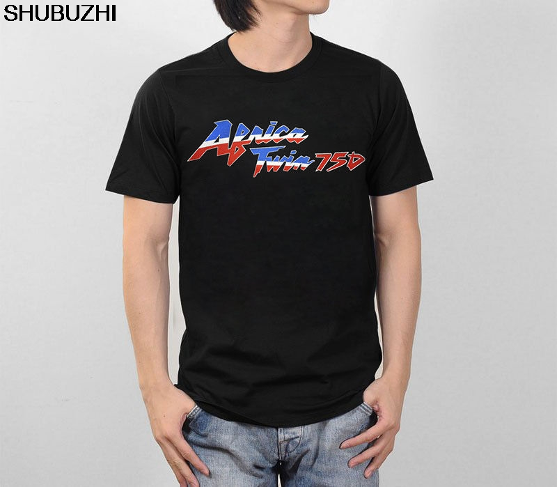 Shubuzhi Brand O-Neck Style Tee Shirts Styles Africa Twin 750 Xrv750 Dual Purpose Motorcycle Biker Tee Shirt Sbz1332