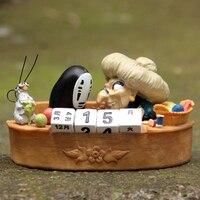 スタジオジブリ宮崎駿千と千尋の顔 & Yubaba カレンダー Pvc アクションフィギュア玩具モデルおもちゃ風景コレクション