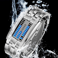 1pc 2017 new fashion  Electronic Digital Wristwatches men male waterproof wrist clocks hour stainless steel strap gift H3