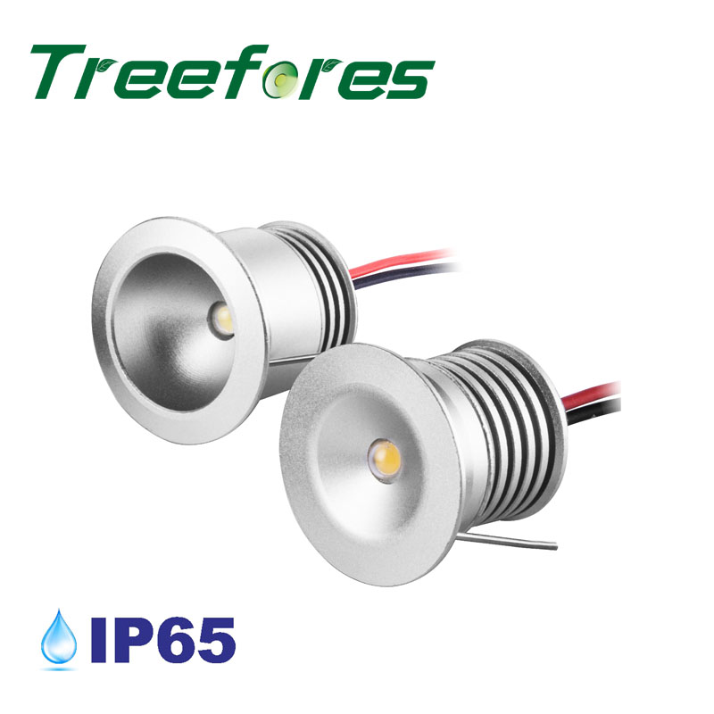 IP65 DC 12V Waterproof 1W 12 Volts Led Bulb Light 25mm 80Ra Cabinet Stair Outdoor Downlight Lamp Christmas Decoration Lighting