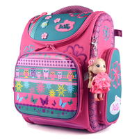 Delune New Fashion Children Cartoon Dogs Cute Bear Girls School Bags Waterproof Foldable Orthopedic School Backpacks