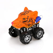 Model cars machine toy magic track fast Mini Vehicle Pull Back Animal Cars with Big Tire Wheel Creative Gifts for Kids D300101(China)