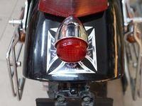 Krom Motosiklet LED Fren Koşu Kuyruk Işık Cafe Racer Bobber Vintage Bisiklet CB