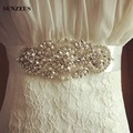 Colorful Satin Formal Party Dress Accessory Bride Wedding Belts Beaded Pearl Cinturon De Novia Bridal Belt Accessories S1238