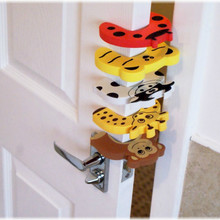 2pcs Baby Child Proofing Door Stoppers Finger Safety Guard Random Holder Lock Protect Toy For