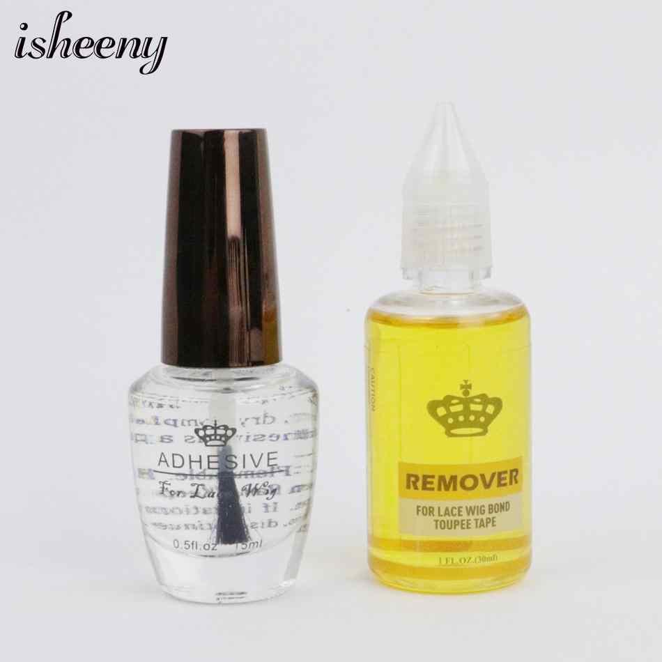 Isheeny 15 мл Прозрачный жидкий клей для парика 0,5 унций невидимый клей для волос для закрытия парика Фронтальный для салона