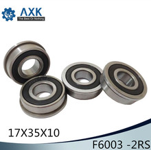 F6003-2RS Wheelbarrow Bearing 17x35x10mm ( 1 Pc ) Garden Trolley Ball Bearings With Flanged 5305 2rs bearing 25 x 62 x 25 4 mm 1 pc axial double row angular contact 5305rs 3305 2rs 3056305 ball bearings