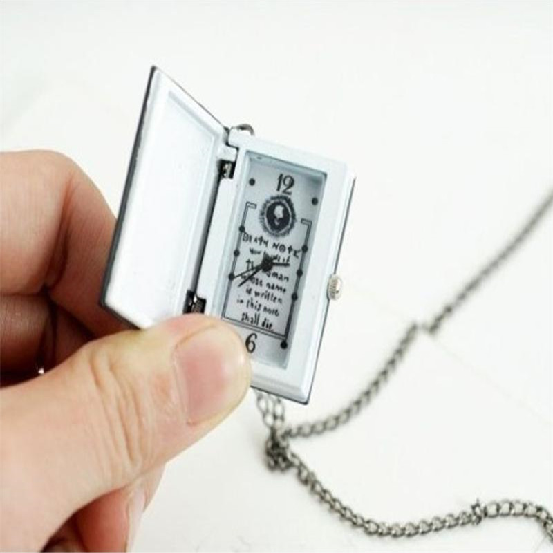 Unique Death Note Bronze Necklace Quartz Pocket Watch Gift For Lovers Women Men Watch Clock Wholesale Relogio De Bolso  #D