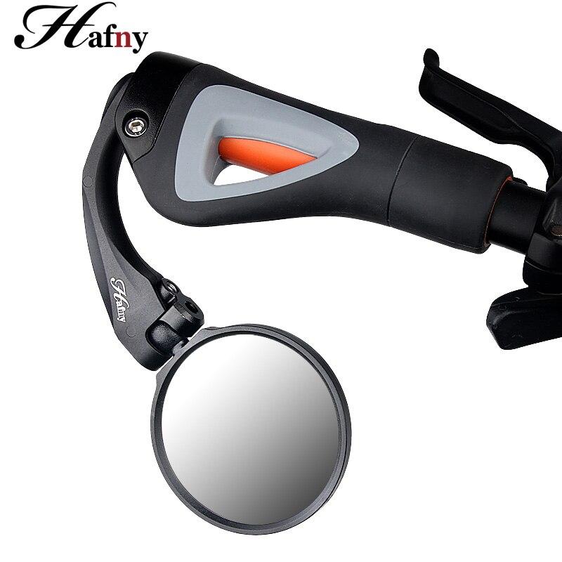 Hafny Flexible bicicleta espejos claro vista posterior espejo bicicleta manillar final trasero ojo espejo de seguridad para la bicicleta MTB Road Bike espejo