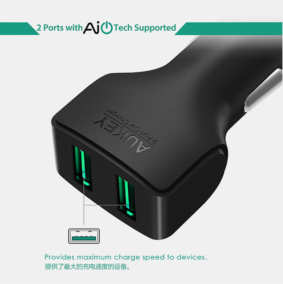 Aukey I6 Car Phone Charger For iPhone 5S 7 Plus (9)
