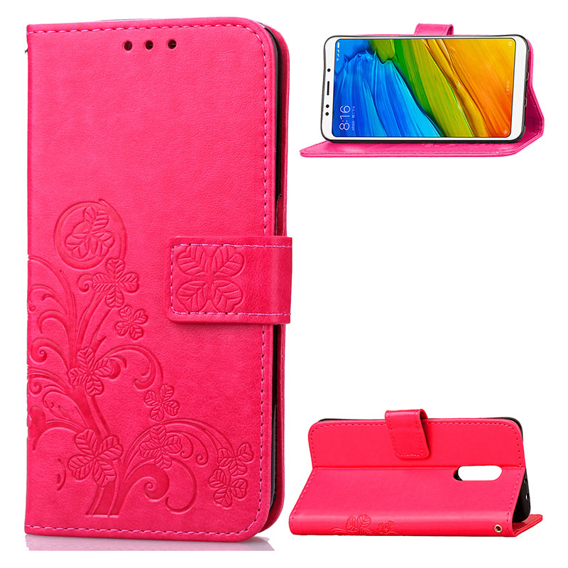 KEFO Luxury For Xiaomi Redmi 2A 3S 4 4A 4X 5A 5 Plus Redmi Note 2 3 4X 5A 5 Pro Case 3D Embossing Book Style Card Holder Cover   (4)