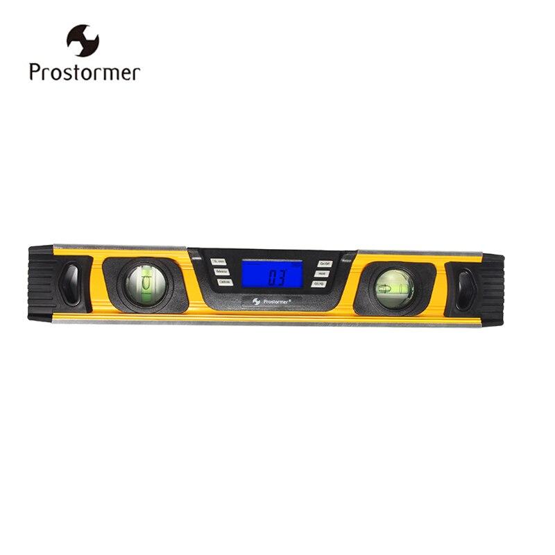 Prostormer Niveau instrument de mesure Numérique Angle Finder Niveau 360 Degrés Gamme Esprit Niveau Debout Inclinomètre