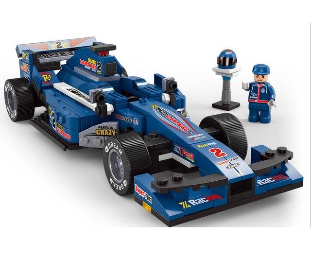 287pcs/set 1:24 Blue F1 racing car Building Blocks Sets Children educational Assembling kids toys Free shipping