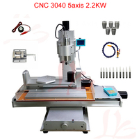 Vertical type CNC Router 5 Axis CNC Drilling and Milling Machine 3040 2.2KW for woodworking