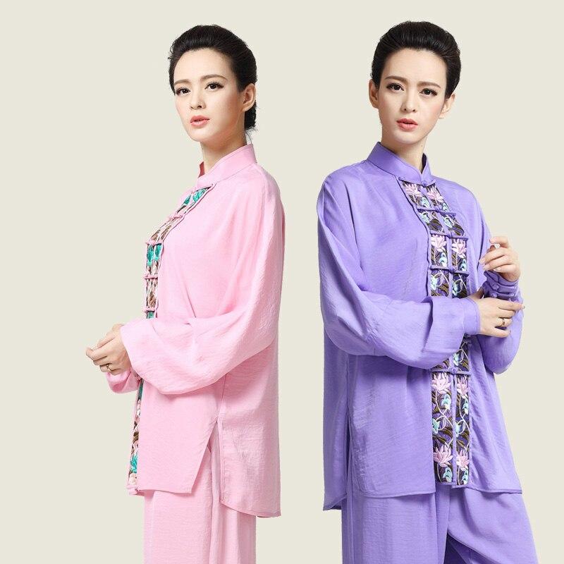New Embroidery Tai Chi Clothes  Taiji  Costume  Woman Kung Fu Performance Clothing Wushu Clothing Martial Art Uniform