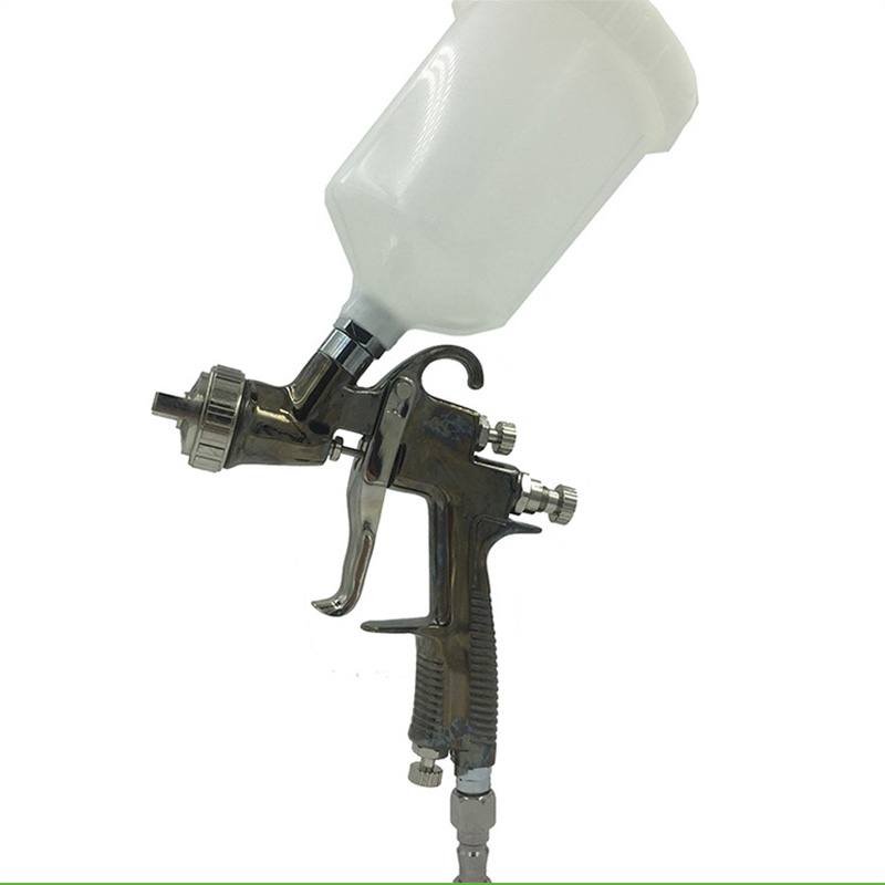 ФОТО SAT0084 spray guns for auto painting pneumatic air professional spray gun high pressure spray gun cup