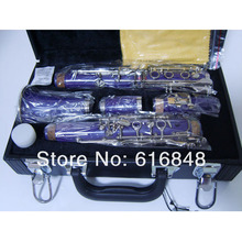 Profeesional 17 Key Bakelite In B Flat Clarinet Surface Nickel Plated Purple Body Clarinet Musical Instrument
