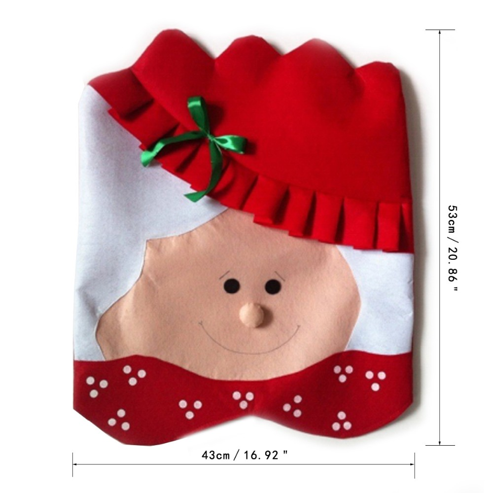 1Pcs Lovely Mr & Mrs Santa Claus Christmas Dining Room Chair Cover ...
