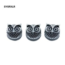 Wholesale 10 pcs 10 MM Lot Charms Owl Head Spacers Beads Vintage Silvery Alloy Beads DIY For Jewelry Making Bracelet Accessoires vintage layered owl beads bracelet for women