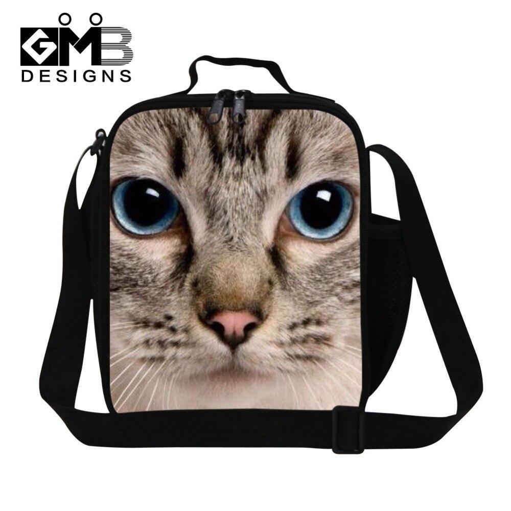 42f5bfeec466c لطيف القط المطبوعة معزول حقائب الغداء للأولاد ، شخصية crossbody الغداء  الحاويات للأطفال والفتيان وجبة حقيبة ل مدرسة