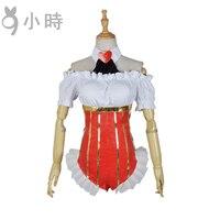Cosplay Japon Anime SUPERSONICO Kraliçe Kırmızı kalp Kapalı Omuz Tulumlar Giysi Çünkü