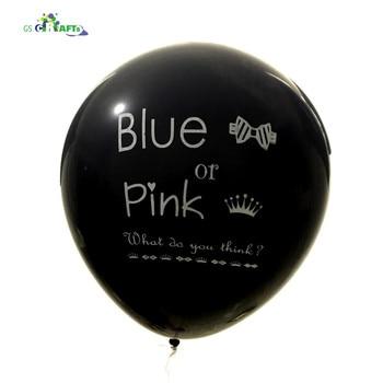 d6b485f2144f 1 unid 36 pulgadas tamaño grande gigante género revelar confeti globo de  látex que pop ver helio globos para el bebé decoraciones del partido