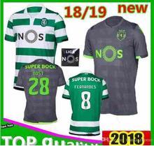 Adulto 2018 2019 Sporting Lisboa Jérsei 18 19 DOST CARVALHO FERNANDES  MARTINS Futebol Jerseys ACUNA Correndo dcd6f3b385c05