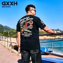 Новинка летняя GXXH Большая мужская футболка мужская с коротким рукавом большого размера плюс мультяшный принт футболка Повседневная Свободная футболка Размер 2XL-7XL