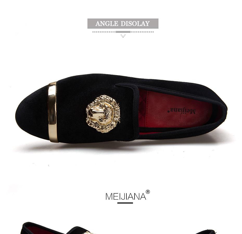 HTB1CvNnaA.HL1JjSZFlq6yiRFXaG - New Fashion Gold Top and Metal Toe Men Velvet Dress shoes italian mens dress shoes Handmade Loafers