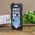 Caso de alumínio, genuine mergulho à prova d ' água à prova de choque de Metal temperado Gorilla Glass para o iPhone 6 mais função de impressão digital