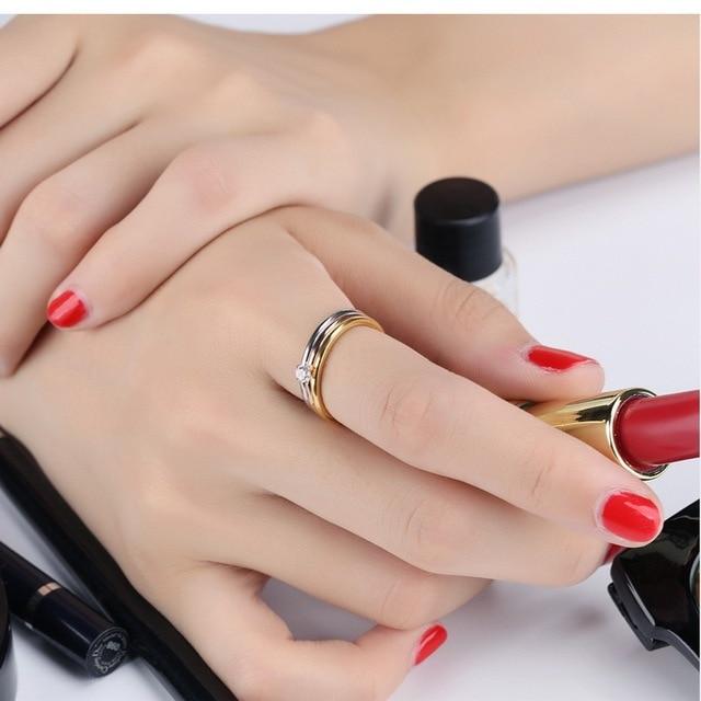 модные кольца для женщин с фианитом 4 мм простые креативные фотография