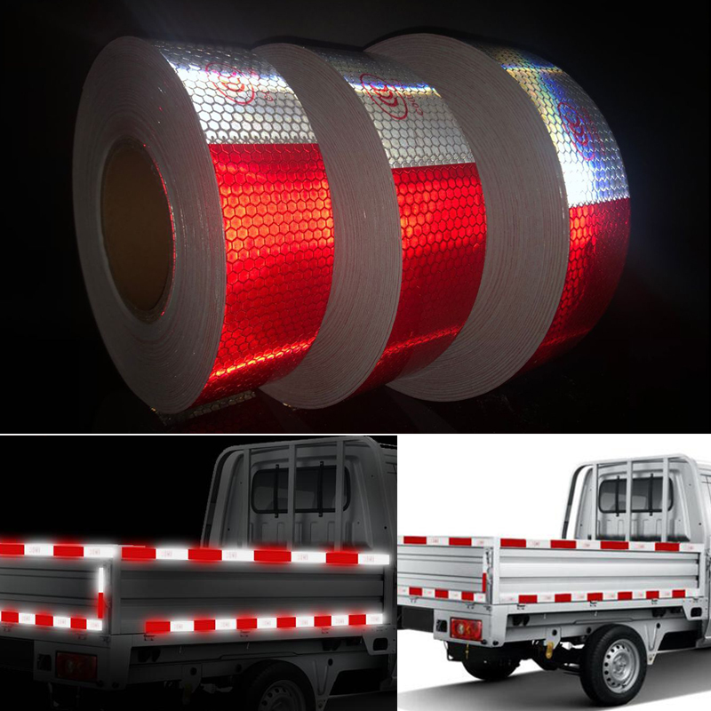 5cmx45m Reflective Tape Stickers Car-styling Self Adhesive Warning Tape