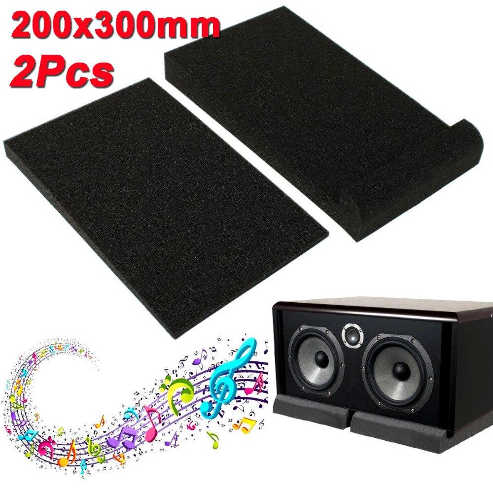 2PCS/Set Black Soundproofing Foam 30x20x4.5cm For Recording Studios Sound Insulation Noise Sponge Sound-absorbing Cotton Pad