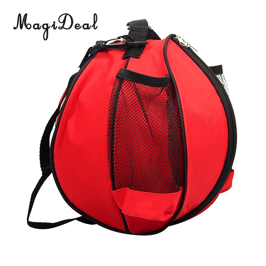MagiDeal PVC Waterproof Backpack Basketball Carry Bag&Adjustable Shoulder Strap Volleyball Men Football Ball Bag Outdoor Sports