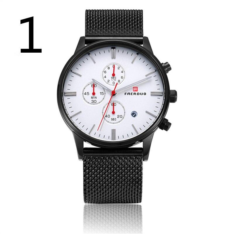 все цены на wang's Men's waterproof fashion steel belt mechanical watch double calendar men's watch couple automatic 2018 new27# онлайн