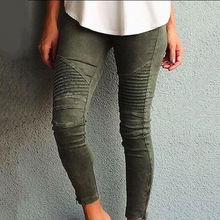 Fashion Women Denim Skinny Ripped Jeans Pants High Waist Empire Solid Stretch Jeans Long Pencil Trousers Rompers New Arrival