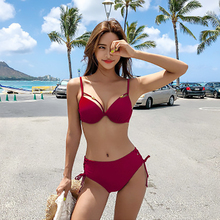 bikini 2019 Women's sexy swimsuit Bikini Set Underwire women swimwear pink black separate swimsuit women sexy bikini set