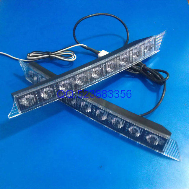 A6-9 9led high power daytime running lights red blue white flash lamp