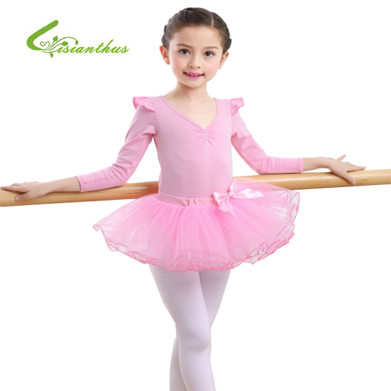 2017 New Girls Ballet Dress For Children Girl Dance Clothing Kids Ballet Costumes For Girls Tutus Dance Leotard Girl Dancewear girls dress winter 2016 new children clothing girls long sleeved dress 2 piece knitted dress kids tutu dress for girls costumes